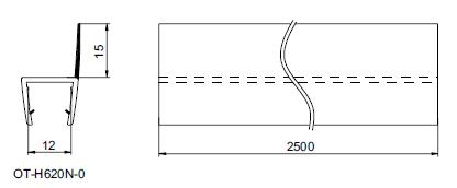 OT-H620Nガラス用エッジシール透明、黒色