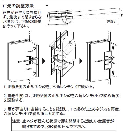 OT-B456-SUS戸先の調整方法