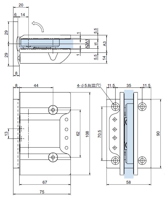 OT-B456-SUS図面寸法
